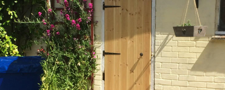 Handyman – built and hung garage door.