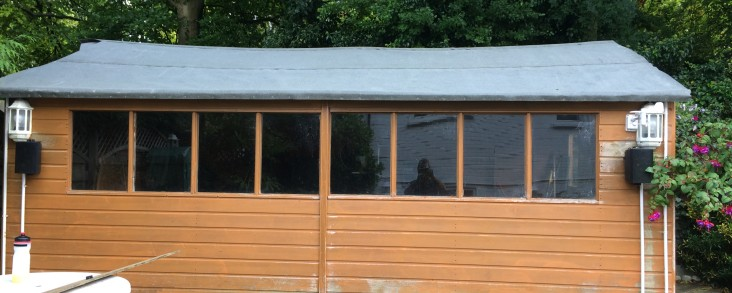 Recent Jobs – Re-felted a shed roof.